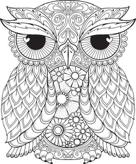 Seth Owl - Color Me Hola ANGEL - colorear, diseño, detallado ...