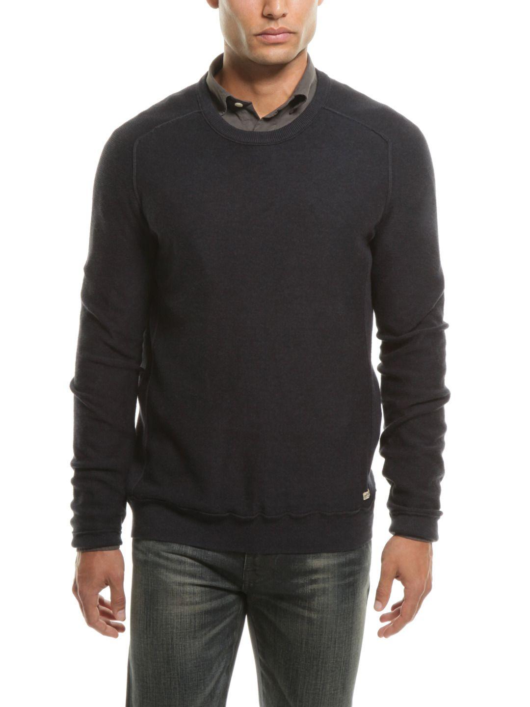 Cotton Saddle Shoulder Sweater Dark Heather