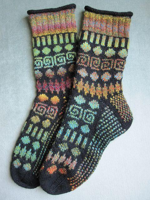 Ravelry: Circles and Spirals Socks pattern by Mimi Kezer
