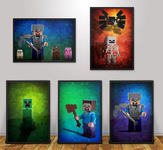 minecraft posters poster wall art