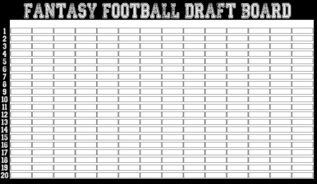 Classic Style Commish Choice Fantasy Football Draft Board
