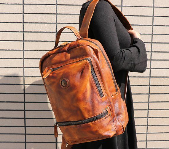 bdc11ad4bc0 Leather Backpack, Womens Backpack, Travel Backpack, Laptop Bag, Work  Backpack, Leather