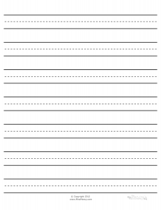 lined paper for learning to write Lined paper narrow-ruled on letter-sized paper in portrait orientation (blue lines) lined paper wide-ruled on letter-sized paper in portrait orientation (blue lines) writing paper with room for picture (blue lines).