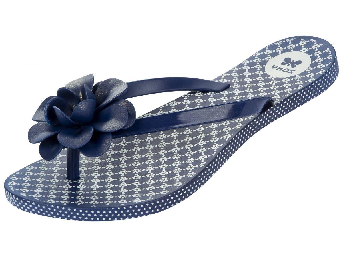 505678b5f7c Zaxy Flowers Fem Navy Blue Womens Flip Flops