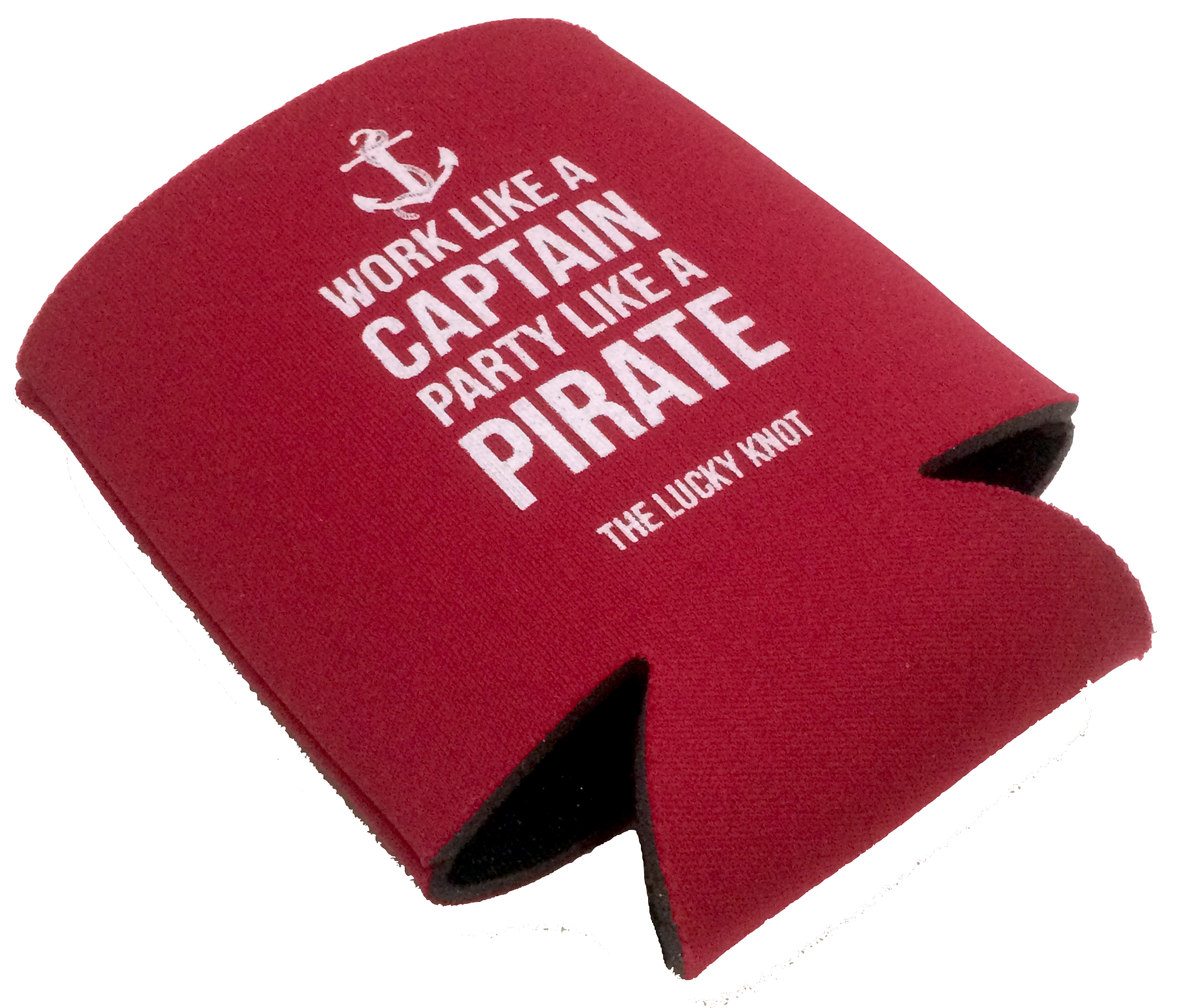 Party Like A Pirate Koozie Red Lucky Knot Apparel