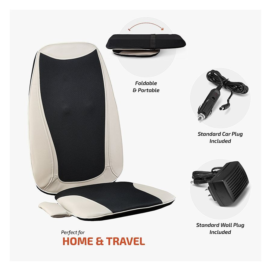Details About Shiatsu Massage Seat Cushion With Heat Back Massager Chair For Home And Car Use Shiatsu Massage Shiatsu Back Massager