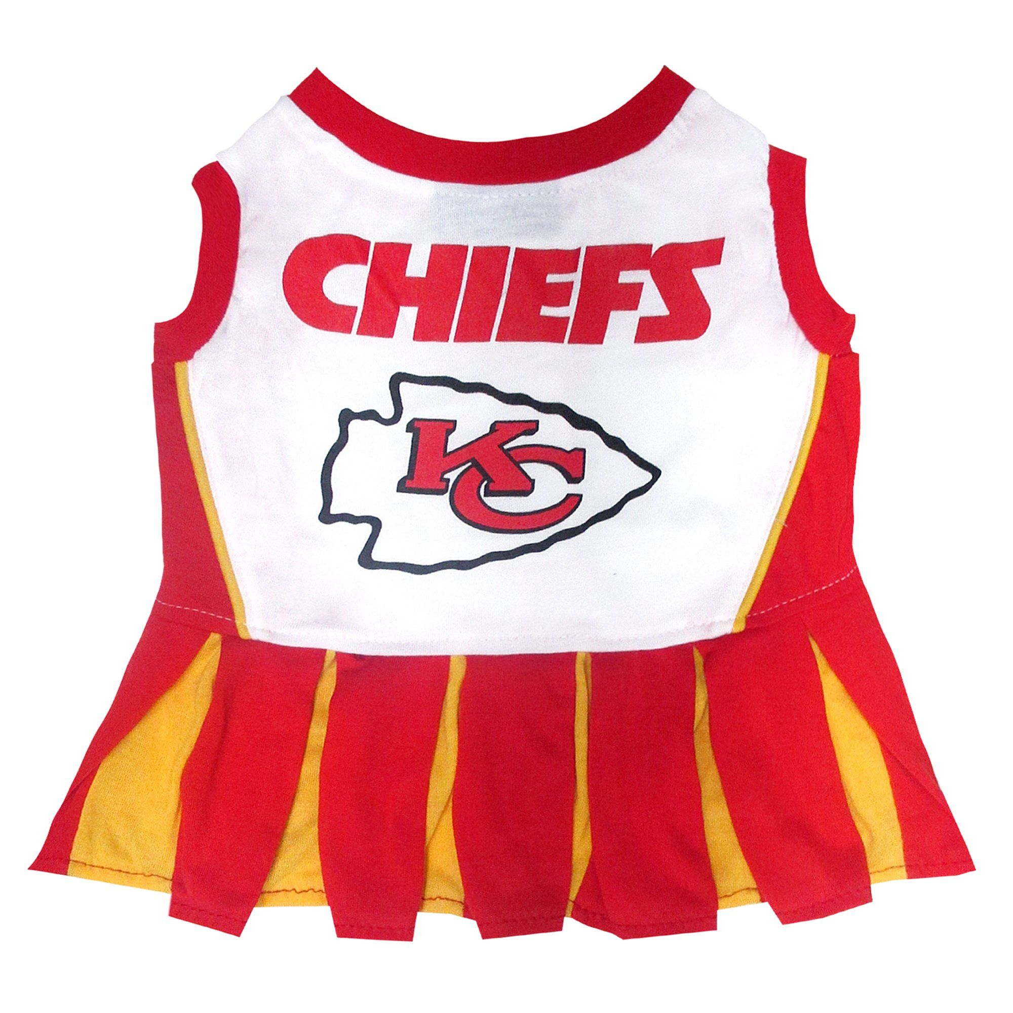 8424a820 Pets First Kansas City Chiefs NFL Cheerleader Outfit, X-Small, Red ...