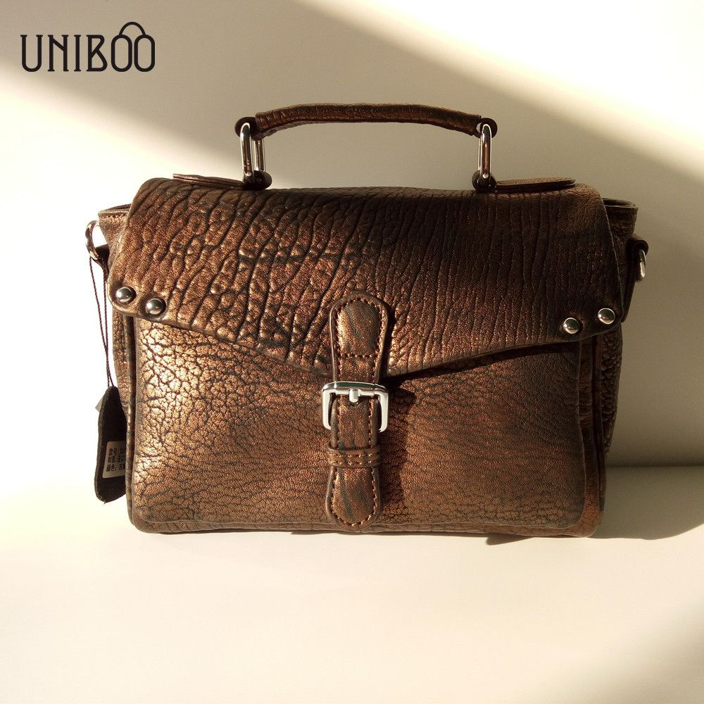 a0879533eb3 [39% off] 2018 trend novelty women bronze flap bag small luxury 100% real  leather cool crossbody bag personality soft leather shoulder bag #fashion  ...