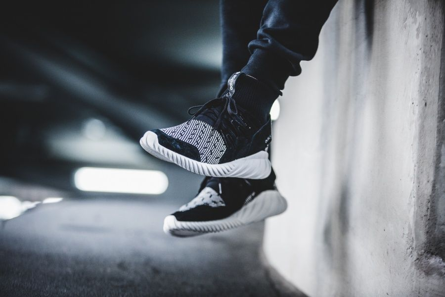 On Foot Look At The Printed Adidas Tubular Doom Primeknit