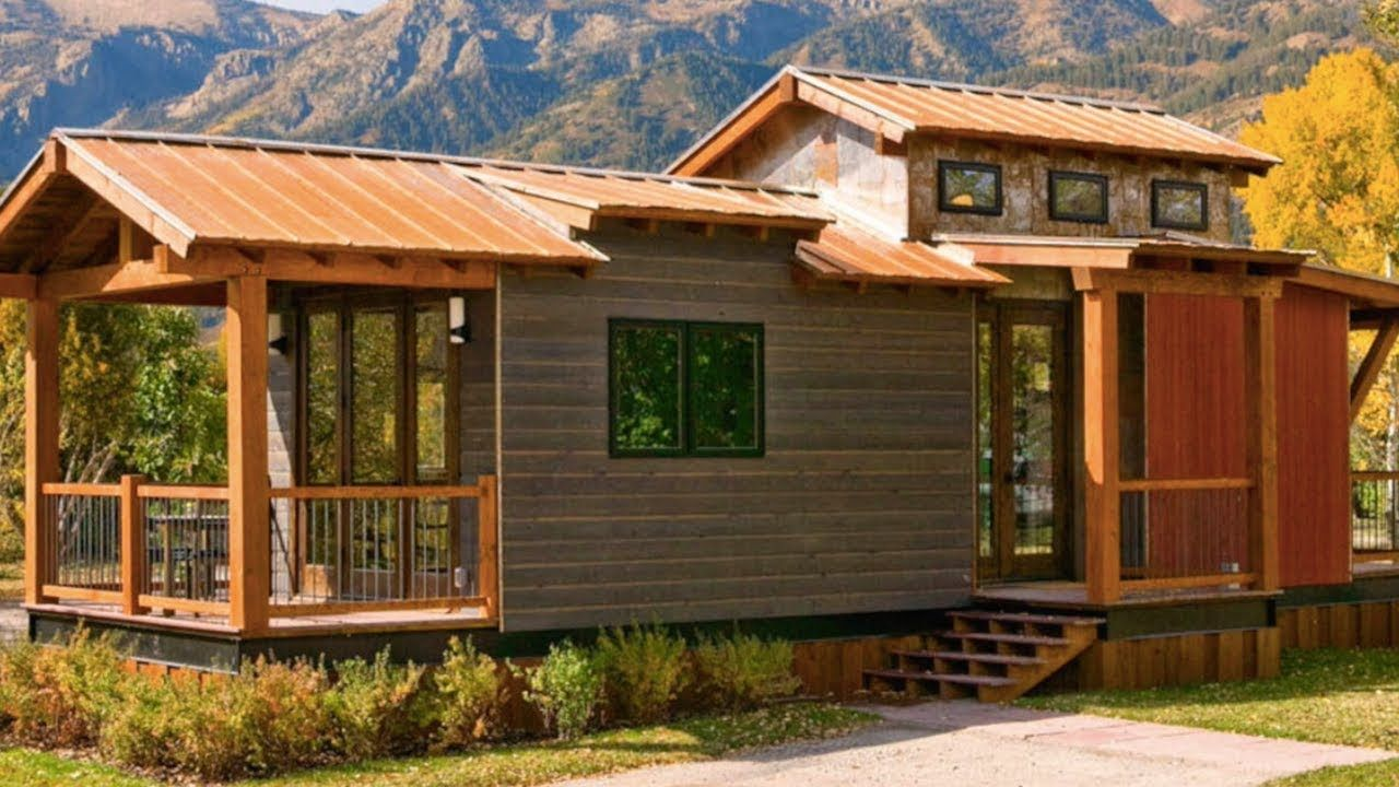 Gorgeous Rustic Caboose 2 Bedrooms Park Model By Wheelhaus Best Small House Designs Small House Design Tiny House Design
