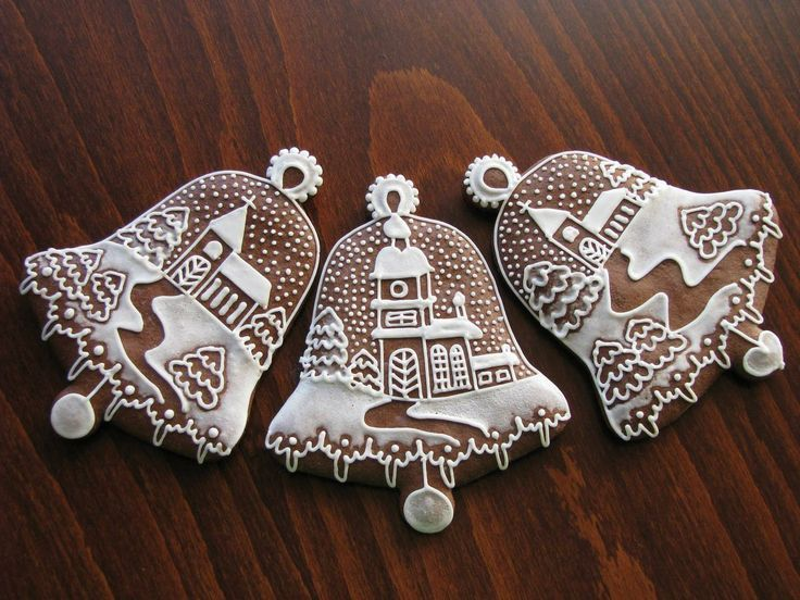Bell Decor Simple Christmas Bells Cookies  Awesome Decor  Too Beautiful To Eat Decorating Design