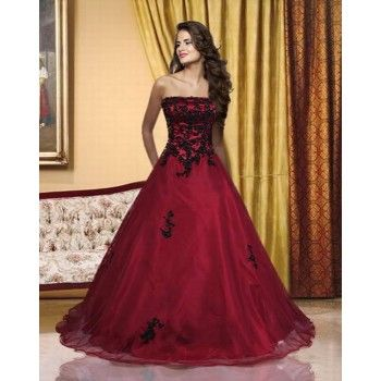 Red gothic wedding dresses uk brides