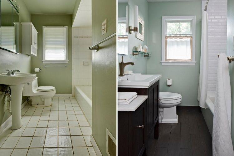 Rénovation salle de bains- idées et photos avant et après ...