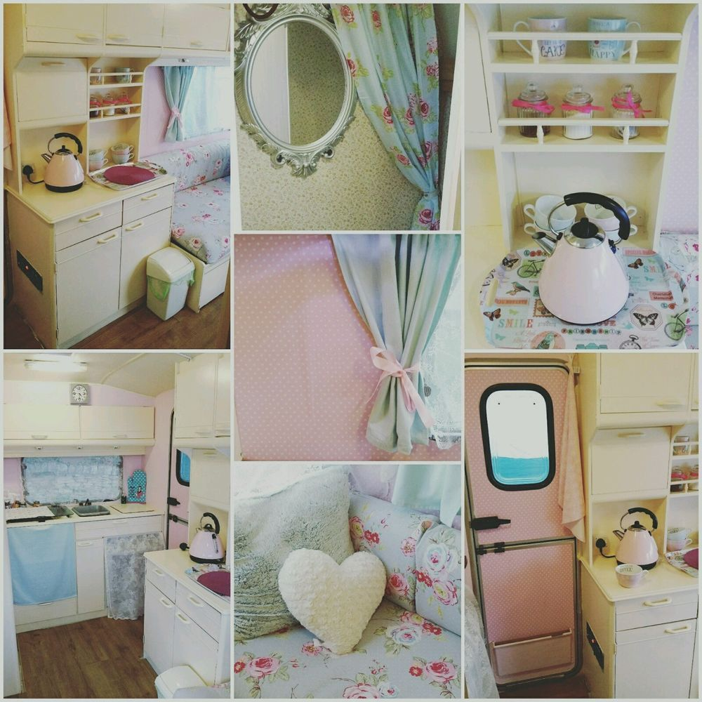 Elddis berth vintage caravan shabby chic pink retro in vehicle parts  accessories motorhome ebay also rh ar pinterest