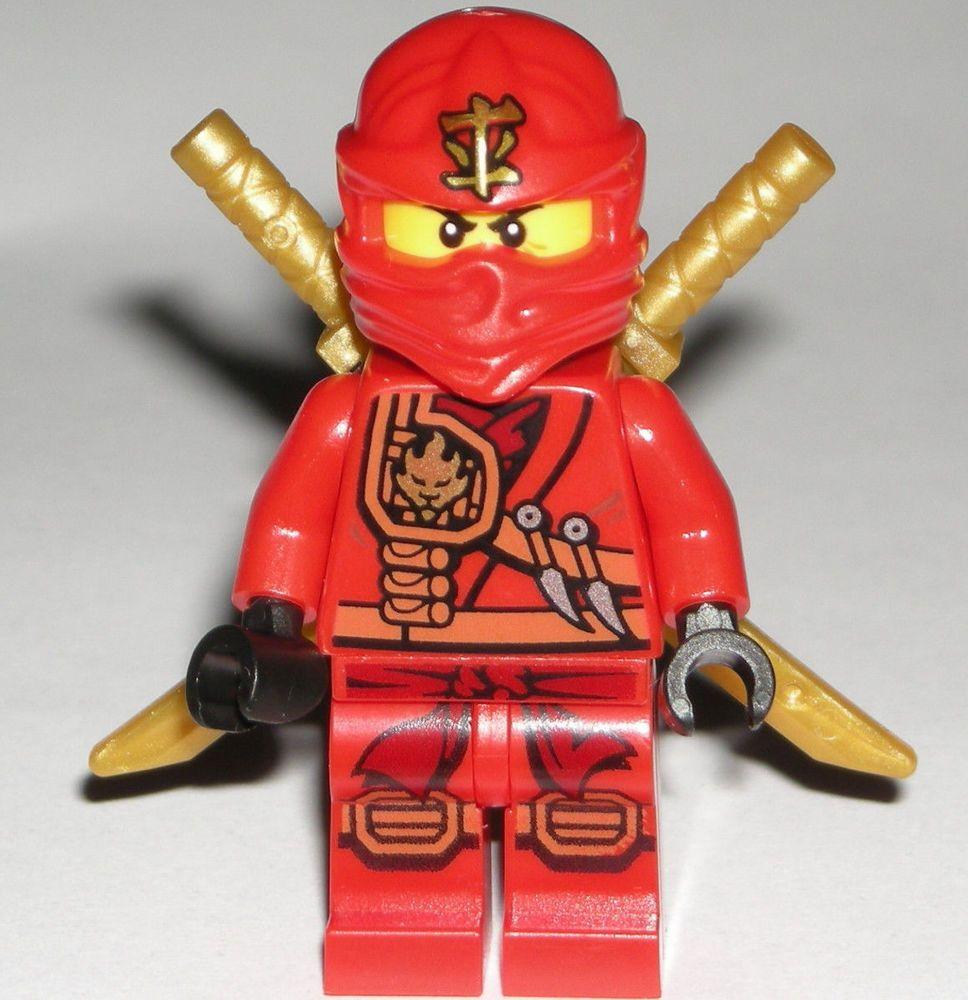 Lego Ninjago Kai Zukin Minifigure Authentic Red Ninja Gold Swords 70745  #lego