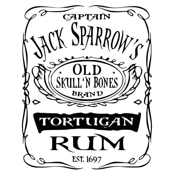 Captain Jack Sparrow Old Rum SVG File, Tortugan Rum | Just