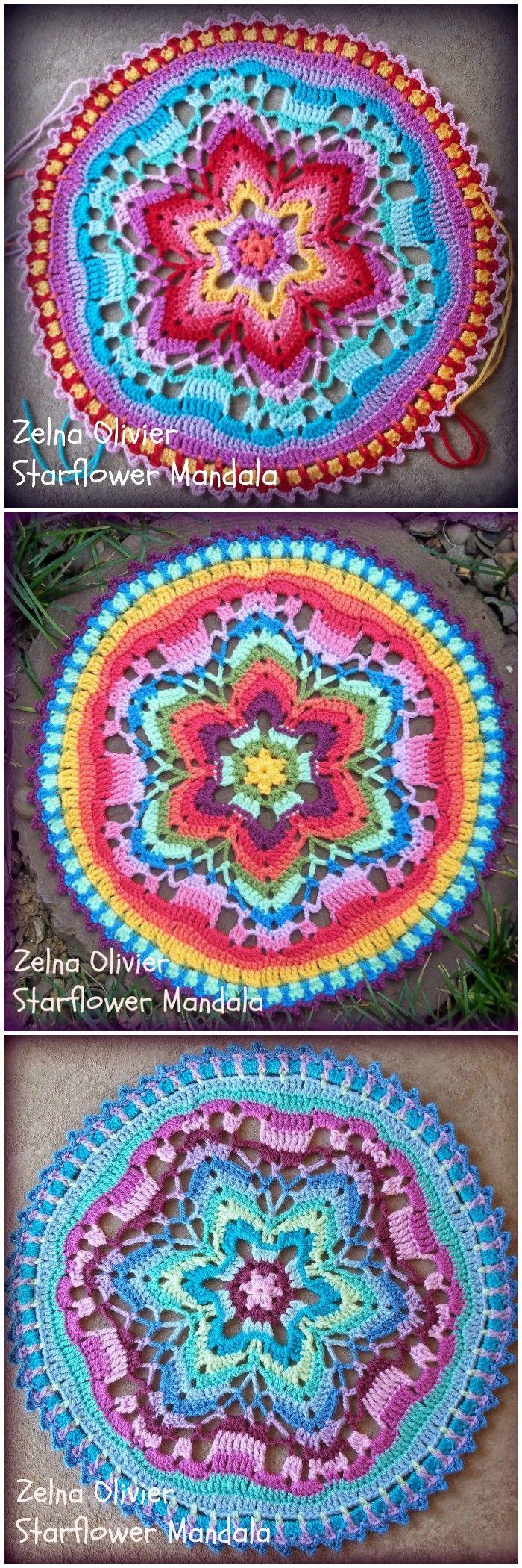 30 Crochet Mandala Patterns - Free Crochet Patterns #crochetmandalapattern