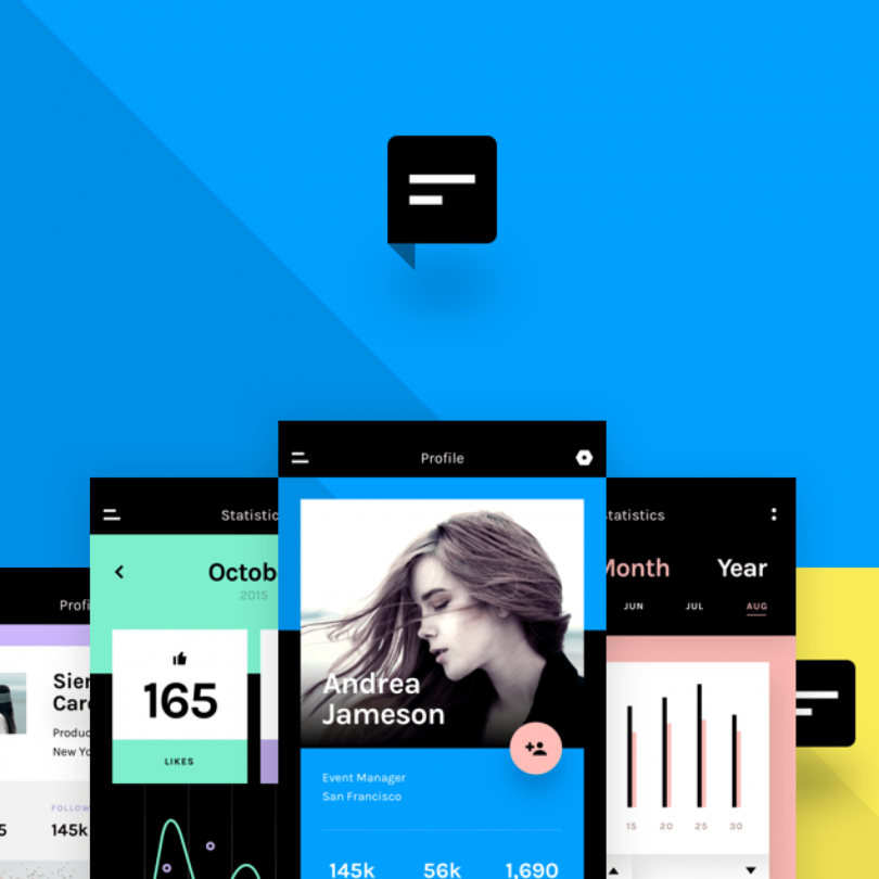 Chat: A minimal mobile app UI kit | Freebies | Mobile app ui