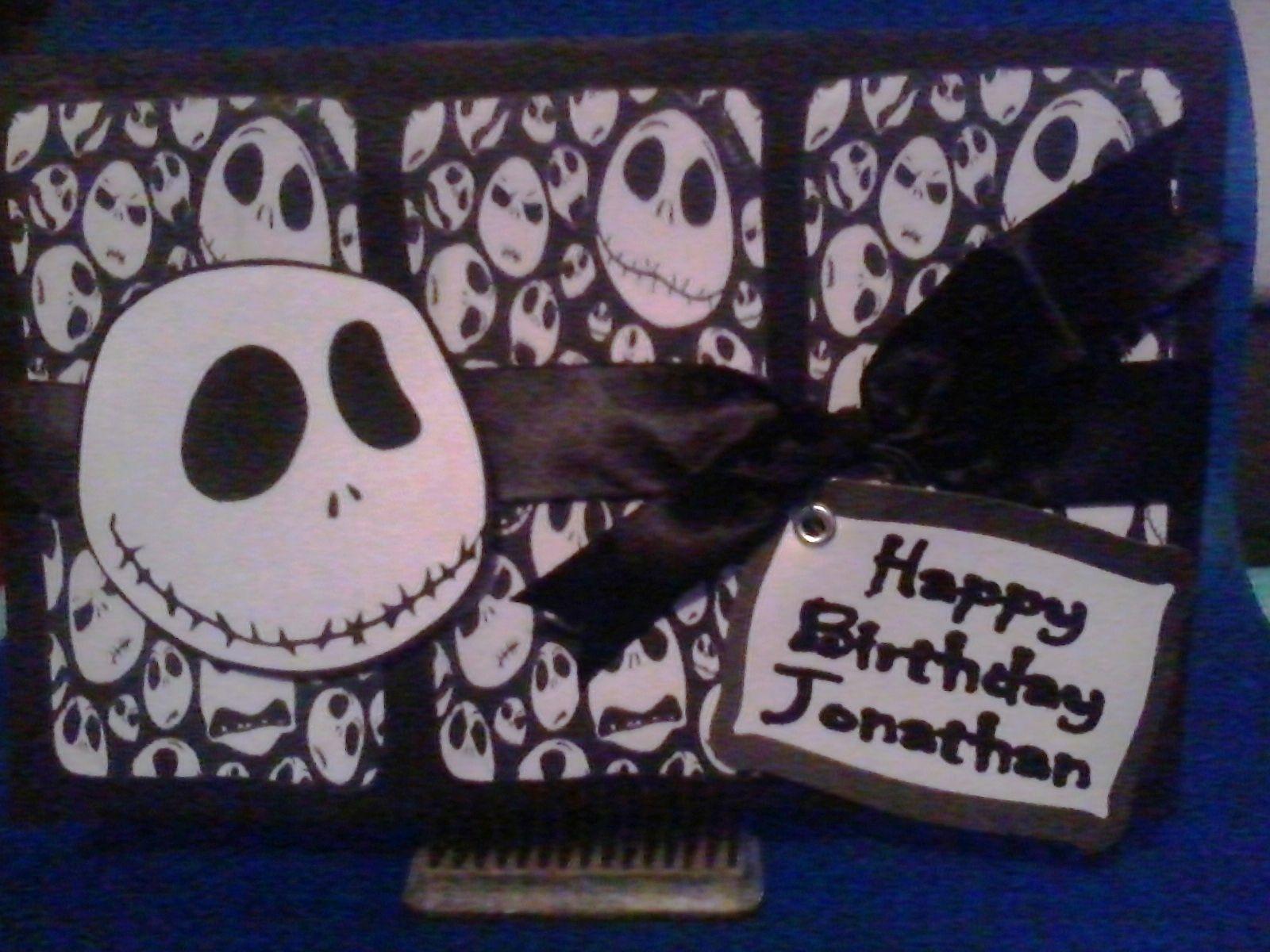Nightmare Before Christmas birthday card   Crafty son of a gun ...