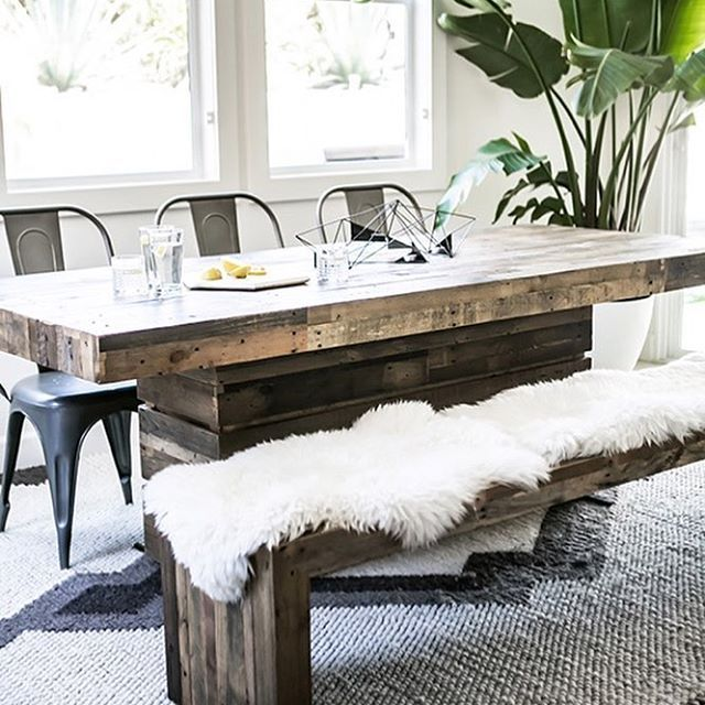 Such A Cute Dining Room Table With The Fur  Home & Living Beauteous Cute Dining Room Tables Design Decoration