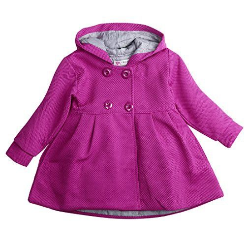 c7d7c4e7b Baby Toddler Girls Fall Winter Trench Coat Wind Hooded Jacket Kids ...