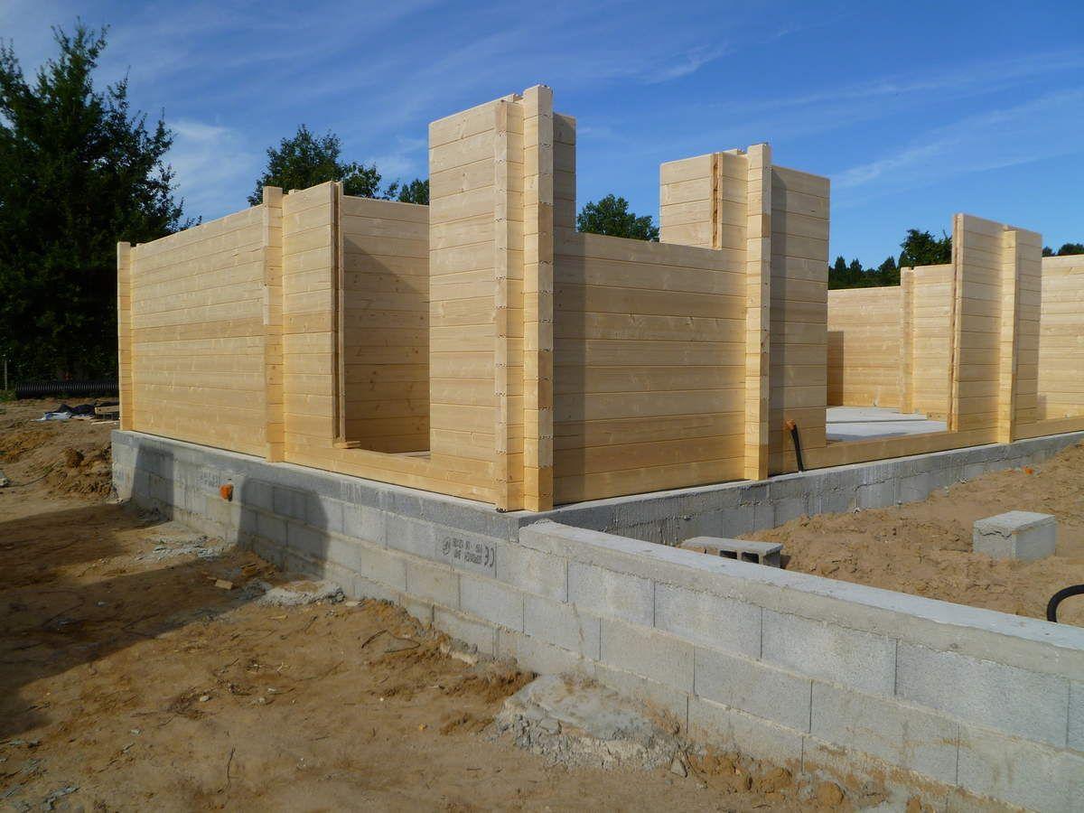 Charming Autoconstruction Du0027une Maison En Bois (madriers). Fin 3ème Journée .
