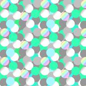 Bulles vertes - Tissu, papier peint, papier cadeau. Motif par Meloxiane, à découvrir sur ...