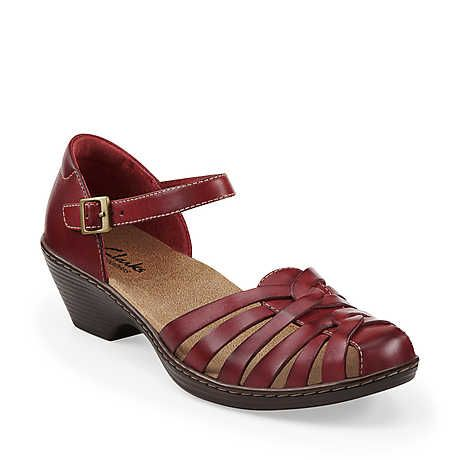 6a2866bd0e0 Wendy Land in Red Leather - Womens Sandals from Clarks