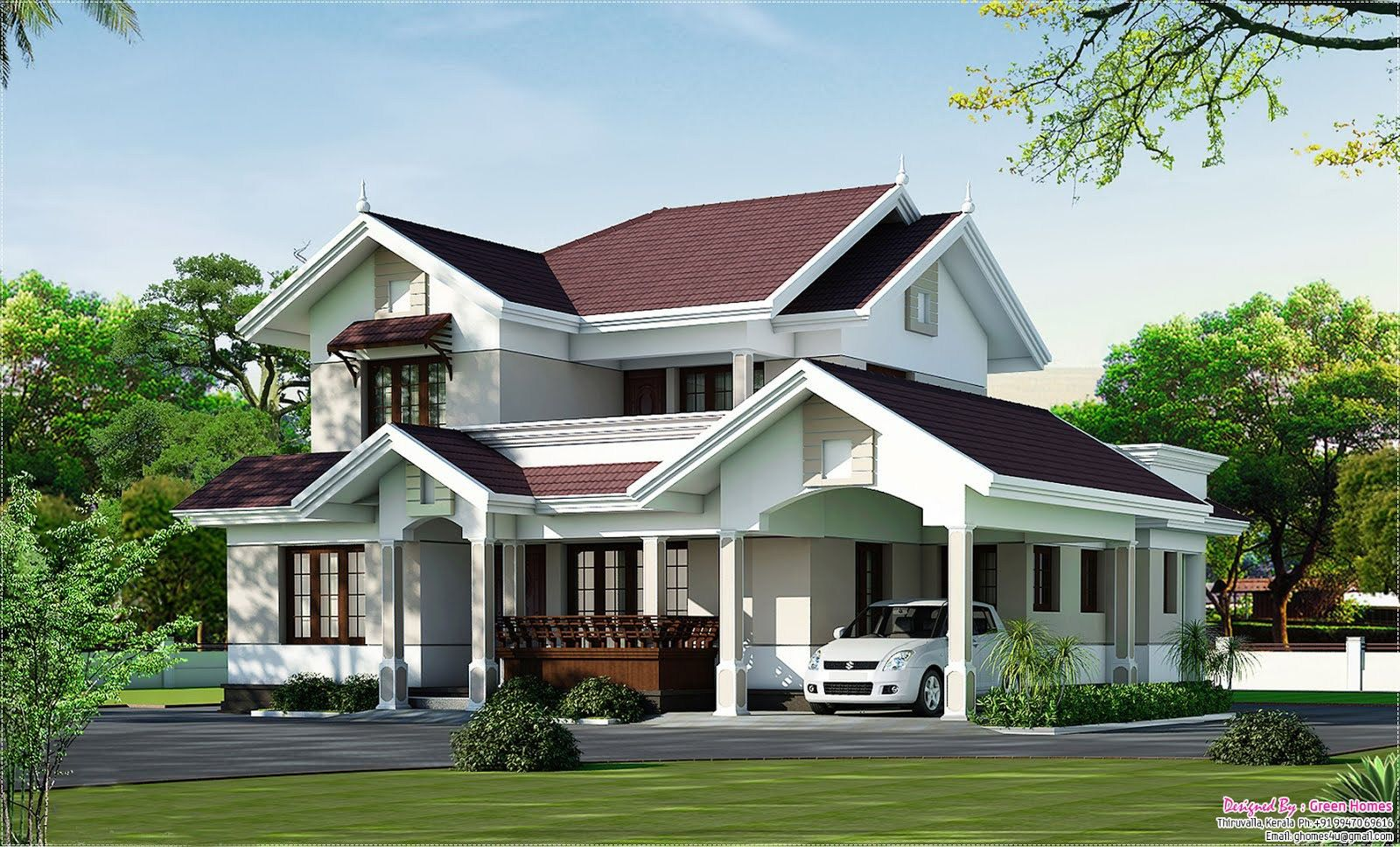 House · Latest Kerala Home Design Sq Ft Simply Elegant ...