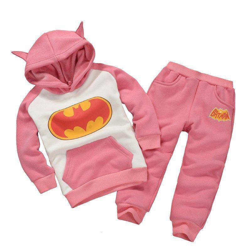 Pants 2 Pcs Children Batman Children Batman Hoodie Clothing Suits Kids Hoodie
