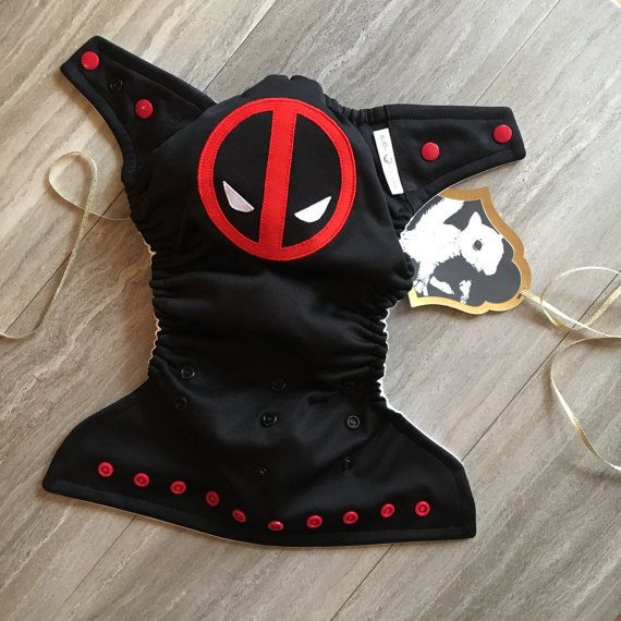 4e72a5936 Deadpool / Superhero / Baby Cloth Diaper Cover or Pocket Diaper (One ...