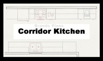 Free Kitchen Layout Plans Kitchen Plan Layout Corridor