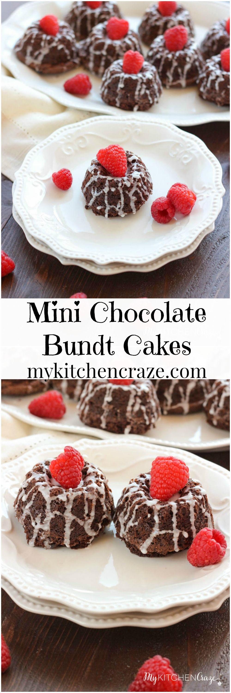 Mini chocolate bundt cakes moist