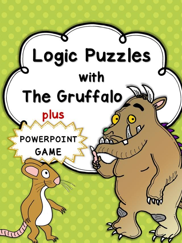 This Set Has 10 Logic Puzzles With The Gruffalo Characters Plus 1