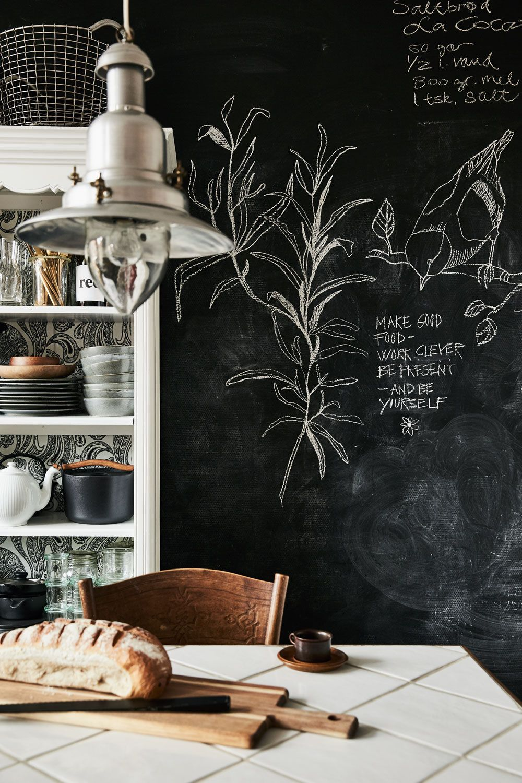Scandinavian Home Home Decor Inspiration Kitchen Chalkboard