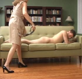 Spank daughters with belt