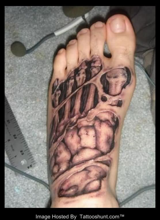 Left foot 3d skeleton tattoo tattooshunt tattoos pinterest left foot 3d skeleton tattoo tattooshunt publicscrutiny Image collections