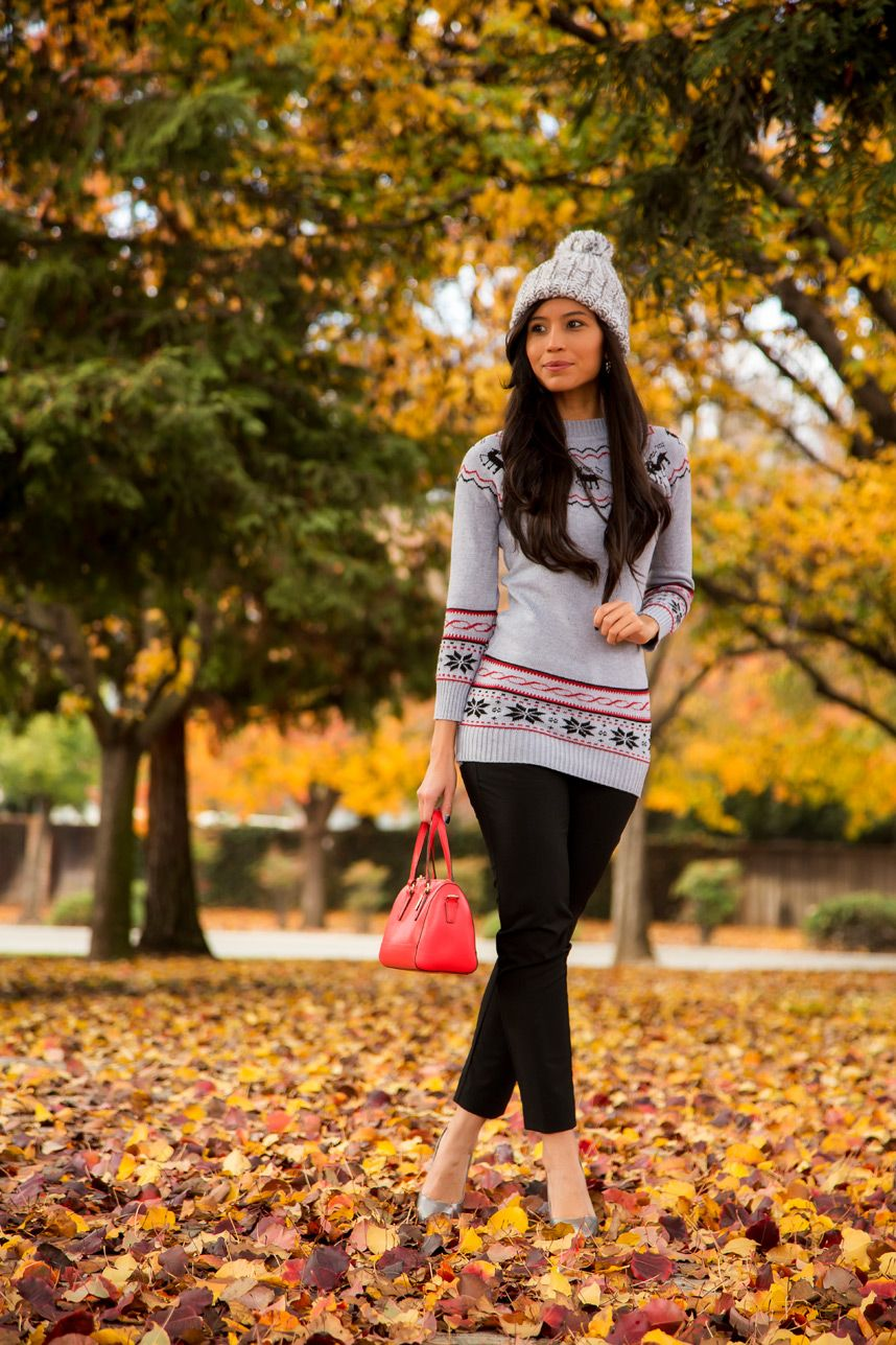 afb4ff84442 how to wear a fair isle sweater - Visit Stylishlyme.com to get fair isle  outfit tips!