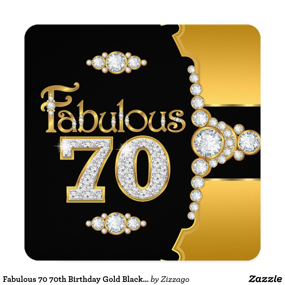 Fabulous th birthday gold black diamond card birthday and