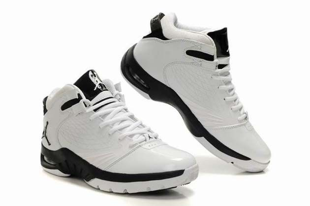 Air Jordan New School Shoes White Black Grey features patent leather and  nubuck, Flywire,