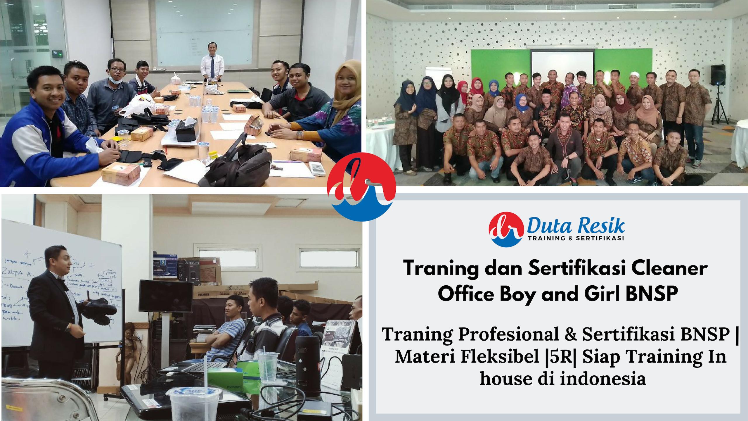 """""""KHUSUS Training dan Sertifikasi Cleaner Junior BNSP"""