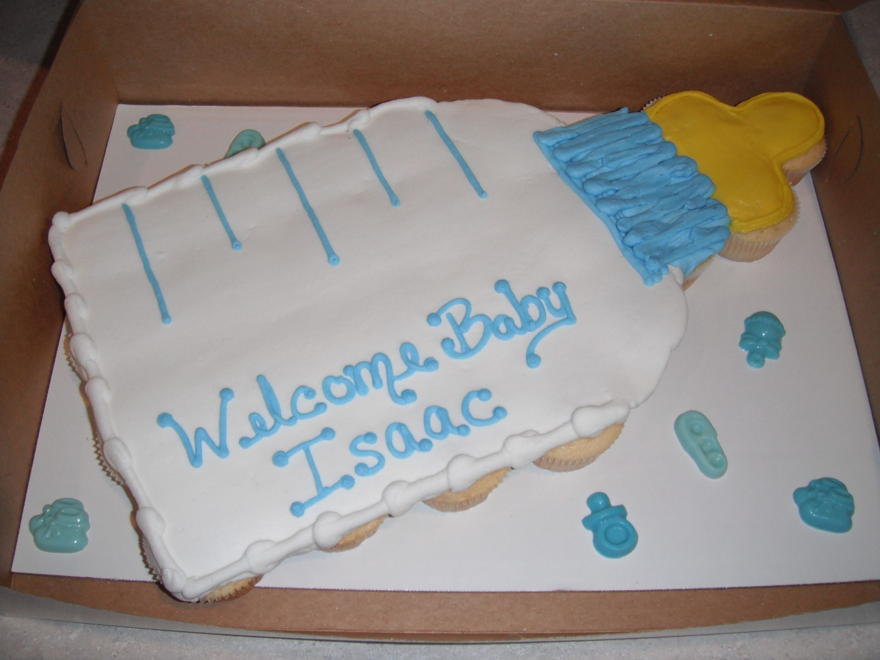 Baby Shaped Cake Images : Baby Shower Pull-Apart Cake - Pull-apart (cupcakes) cake ...