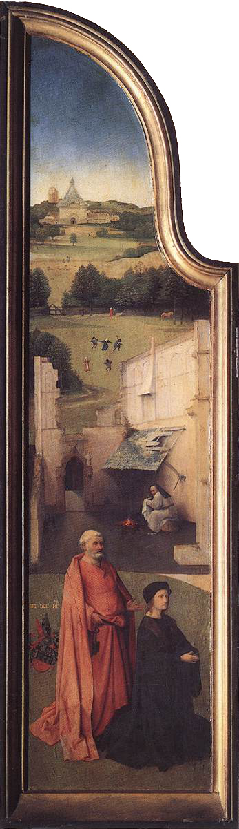 HIERONYMUS BOSCH (1450 - 1516) | The Epiphany - The Adoration of the Magi (left panel). Prado Museum.