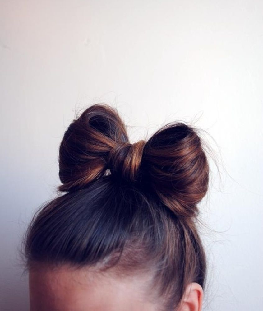How To Bow Bun Fashion Pinterest Hair Hair Styles And Bun Bow