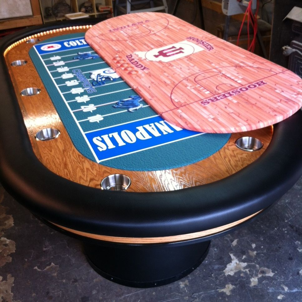 Custom Poker Table With Led Rope Lights 2