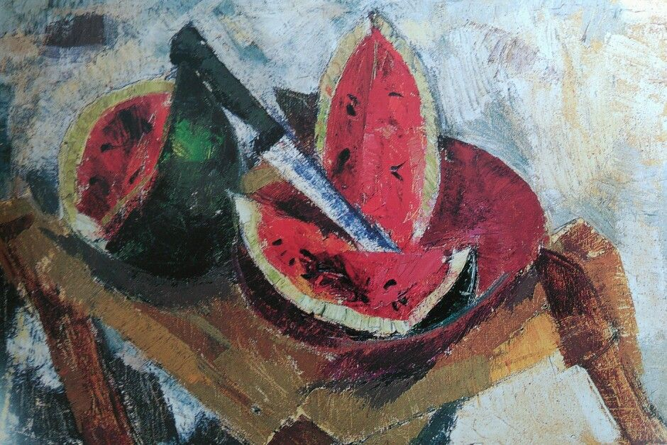 """Margo Veillon """"Nature Morte au couteau"""" 1970"""