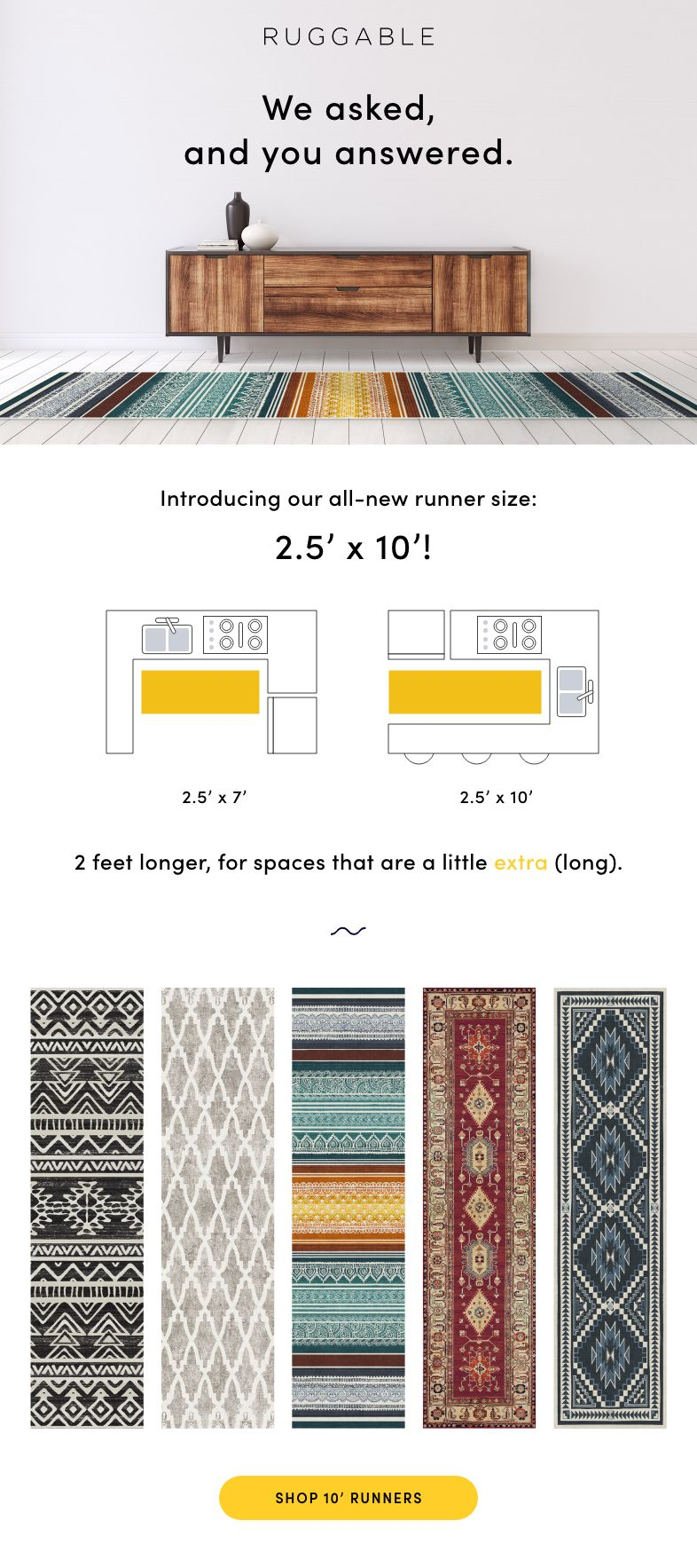 The Machine Washable 10ft Runner Rug Runner Entryway Apartment Home Projects 2 x 10 runner rug