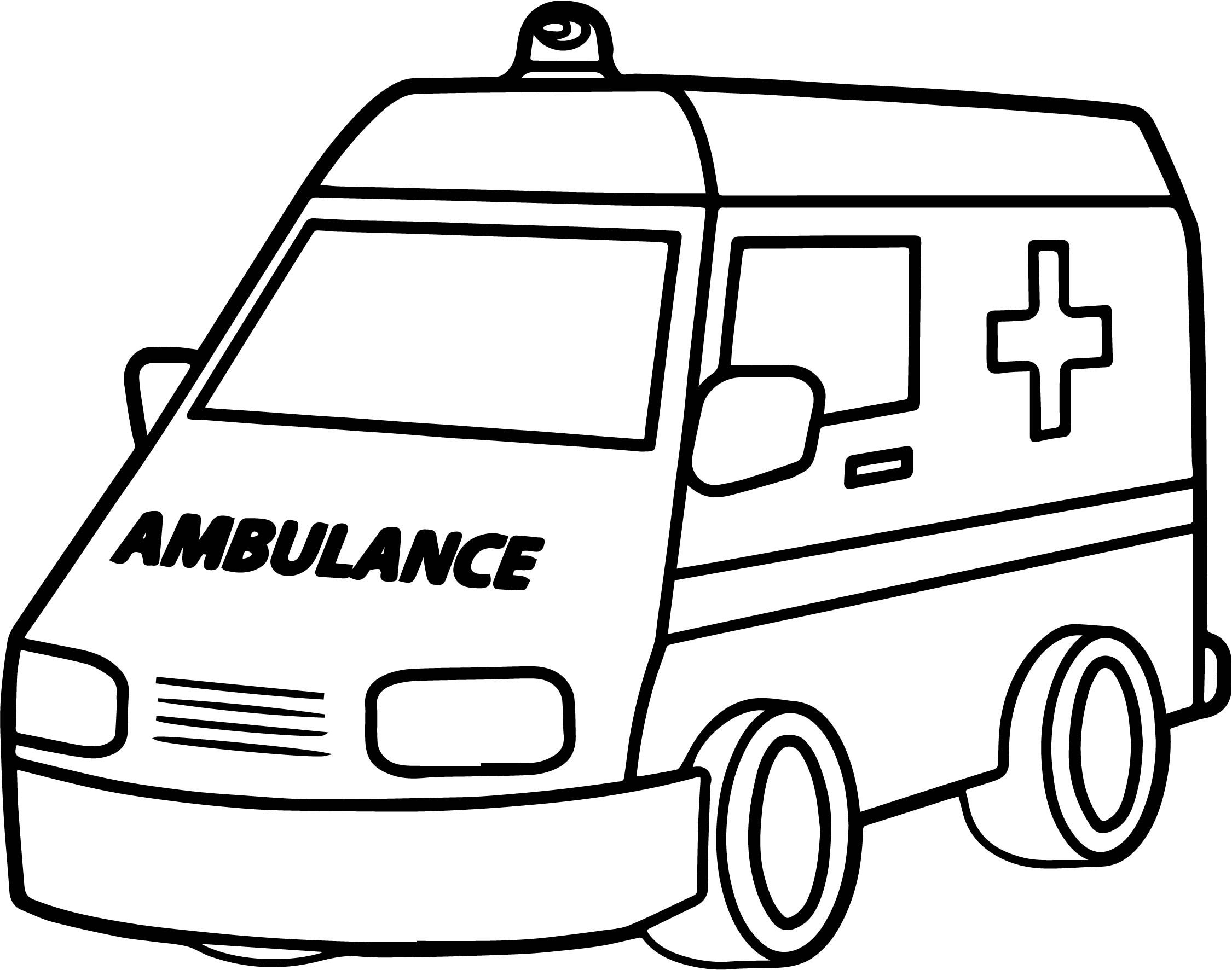 Cool Good Ambulance Coloring Page Kindergarten Coloring Pages
