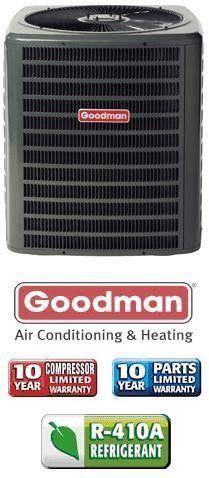 2 Ton 13 Seer Goodman Heat Pump Gsz130241 By Goodman 1059 00 Single Stage Heat Pum Heating And Air Conditioning Central Air Conditioners Goodman Heat Pump