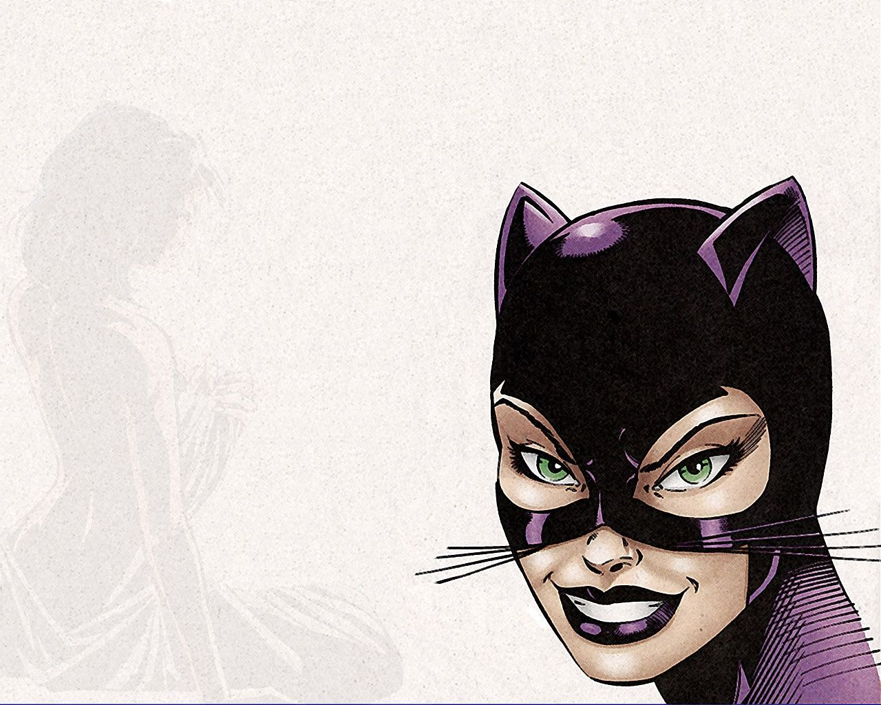 Image result for catwoman cartoon drawing